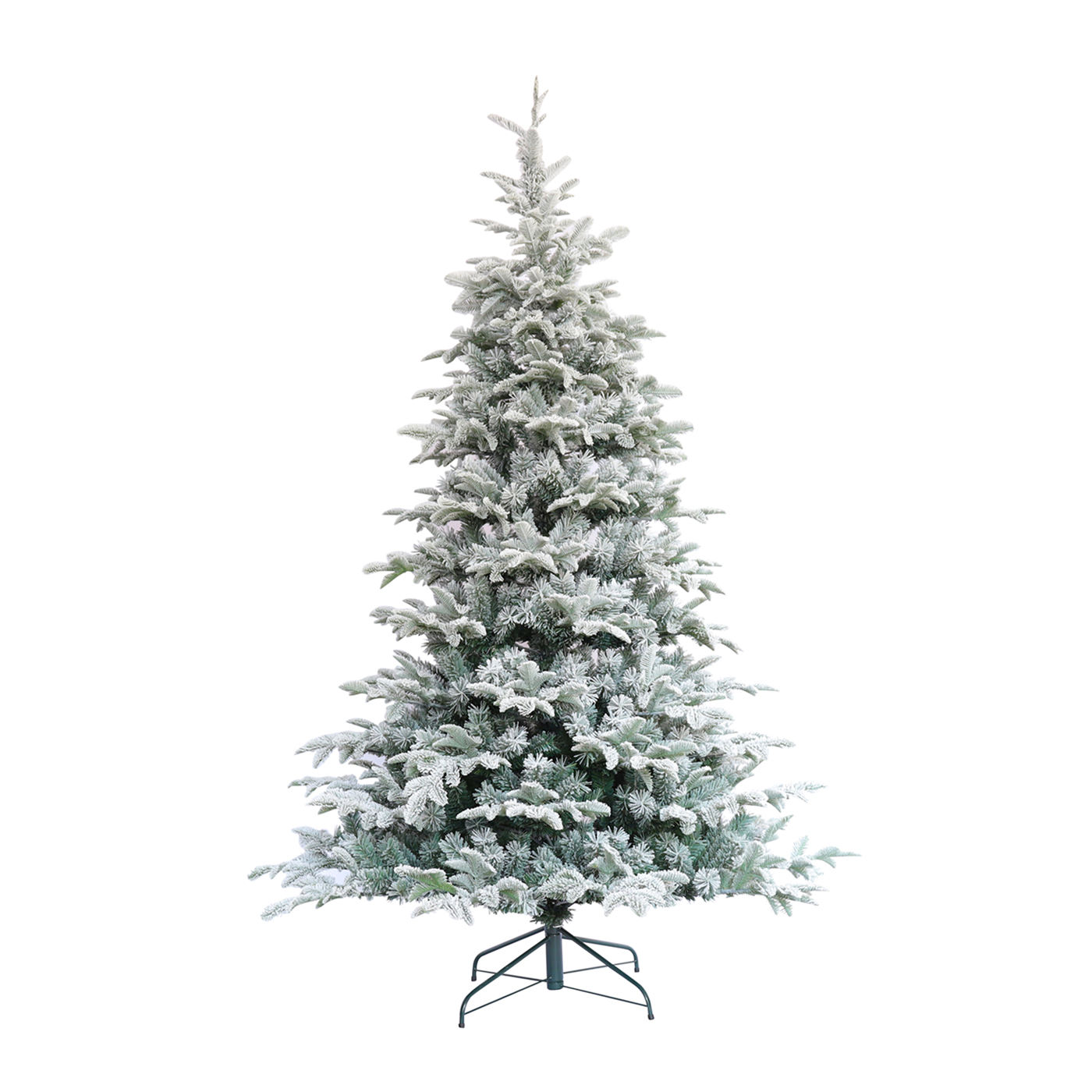 Snowflake Commercial Wholesale Luxury 6FT Pvc Pe Mixed High Quality White Artificial Snowing Flocked Christmas Tree
