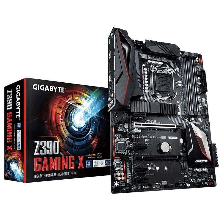 GIGABYTE Z390 GAMING X con 10 + 2 Digital PWM di Disegno, 2-Way CrossFire Multi-Grafica Intel Z390 <span class=keywords><strong>Chipset</strong></span> scheda Madre di Gioco