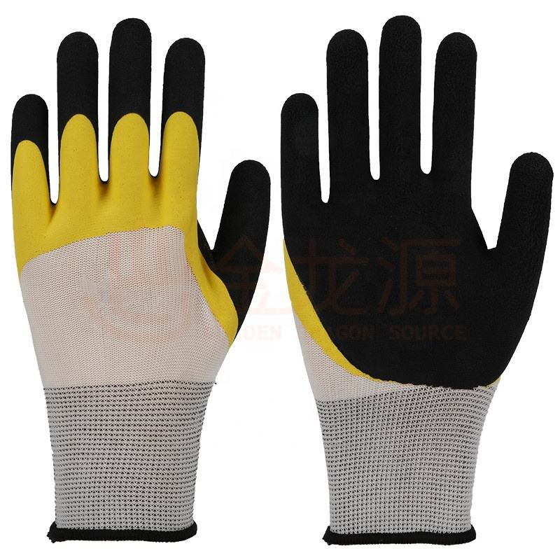Provide Industrial High Grip Latex Anti Slip Resistant Safty Gloves Working