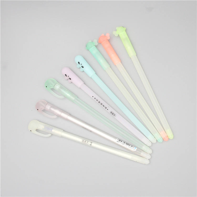 YQ0149 promotion soft silicone cute head plastic gel pen ball pen kawaii korean stationery