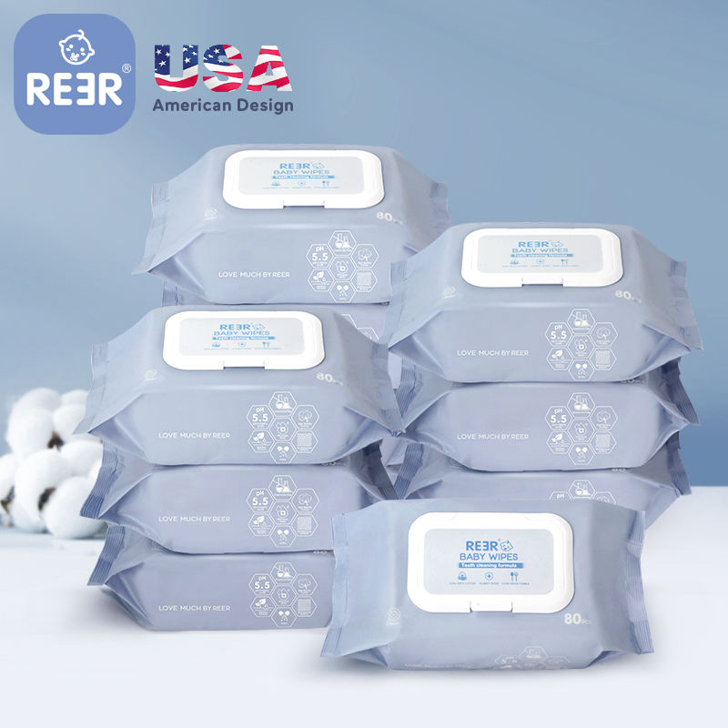 REER facial sneaker feminine flushable face water wipes hand makeup remover cleaning baby wet wipes