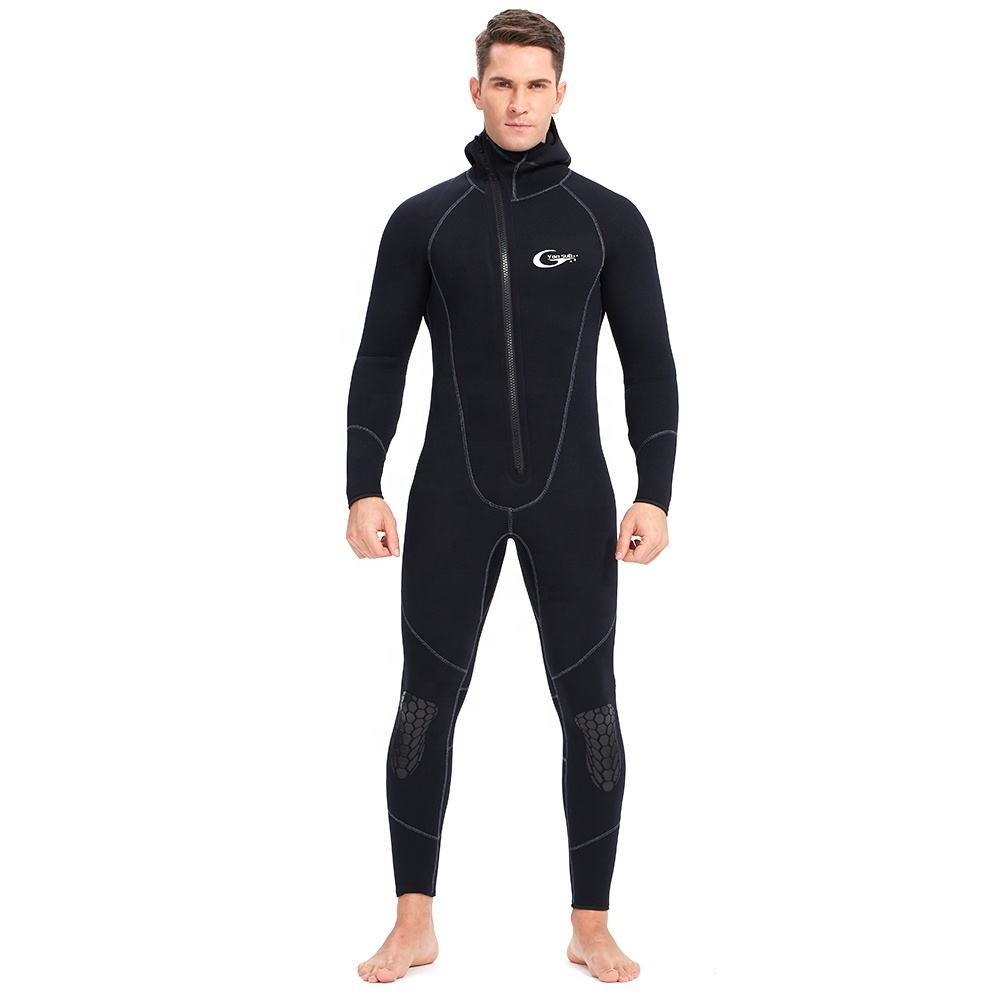 YonSub Wholesale Men's Front Zipper wetsuit Neoprene Diving suit With Hood