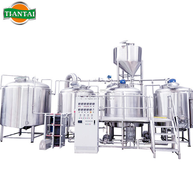 2000L 20HL steam heating red copper 4 vessel beer brewery manufacturing plant made in china