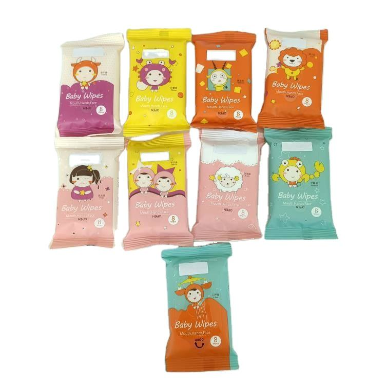 Hot sale korea tender clean skin hand mouth plant based cloth wipes baby