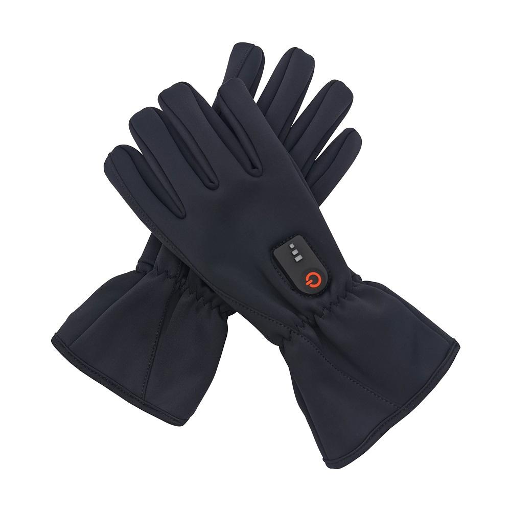 Man and Woman Hot Product black winter hand heated ski glove thin heated gloves