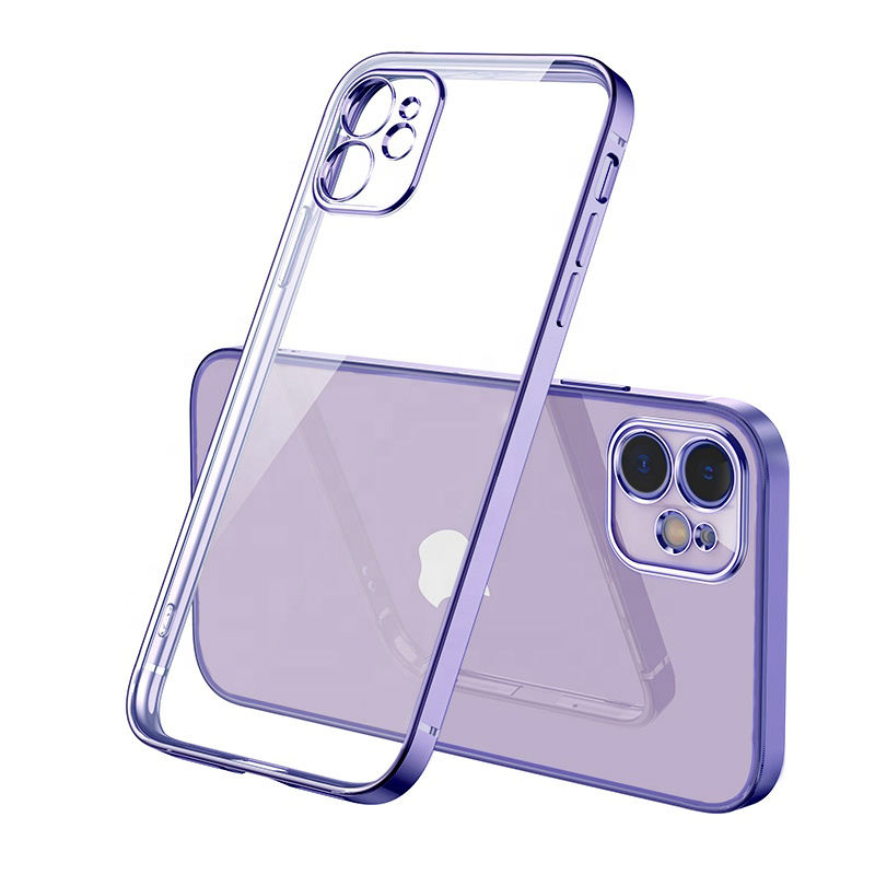 Wholesale Fashion Transparent Electroplating Soft TPU Phone Case For IPhone 12 Pro 12 Max 11 Pro Max 11 Pro 11 XR XS Max X 8 7 P