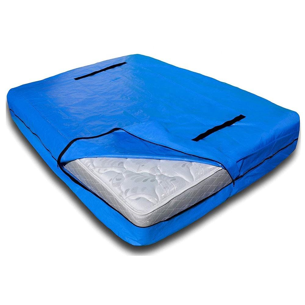 Waterproof Mattress Bags PE Tarp Zippered Mattress Cover Oxford Cover Mattress Moving And Storage Bag For Moving Storage