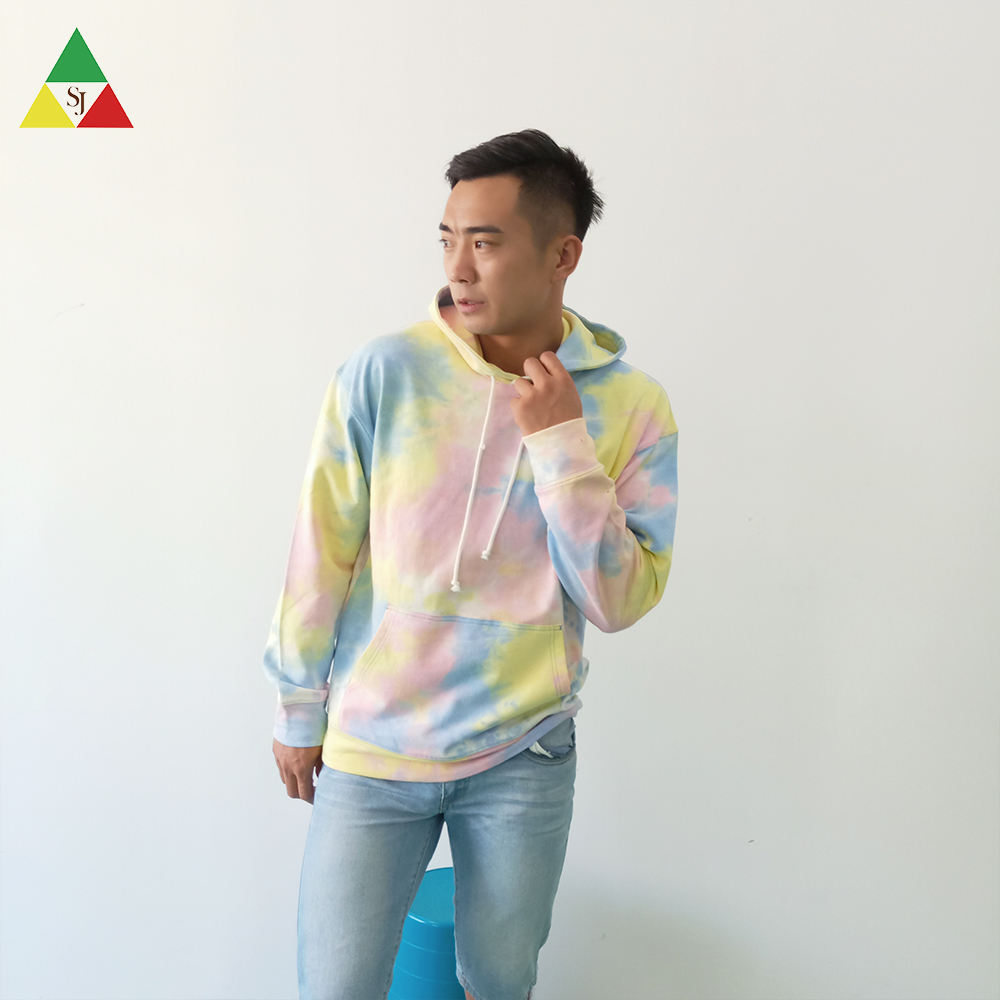 Factory price men's tye dye hoodies