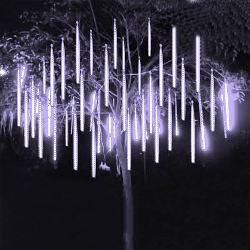 Security LED Meteor Shower Rain Lights 30CM 50CM 80CM 100CM 8 Tube Drop Icicle Snow Falling Rain Light for Wedding Xmas Decor