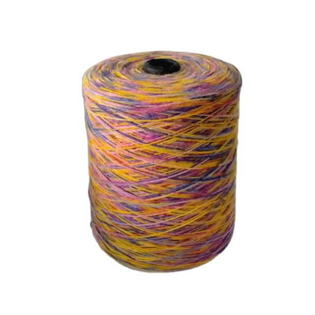 2020 latest fancy yarn Colorful cotton polyester nylon acrylic ring spun oe blended segment dyed yarn