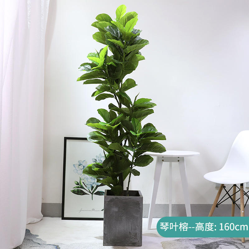 Indoor home decoration real touch and cheap artificial tree with flowers plant