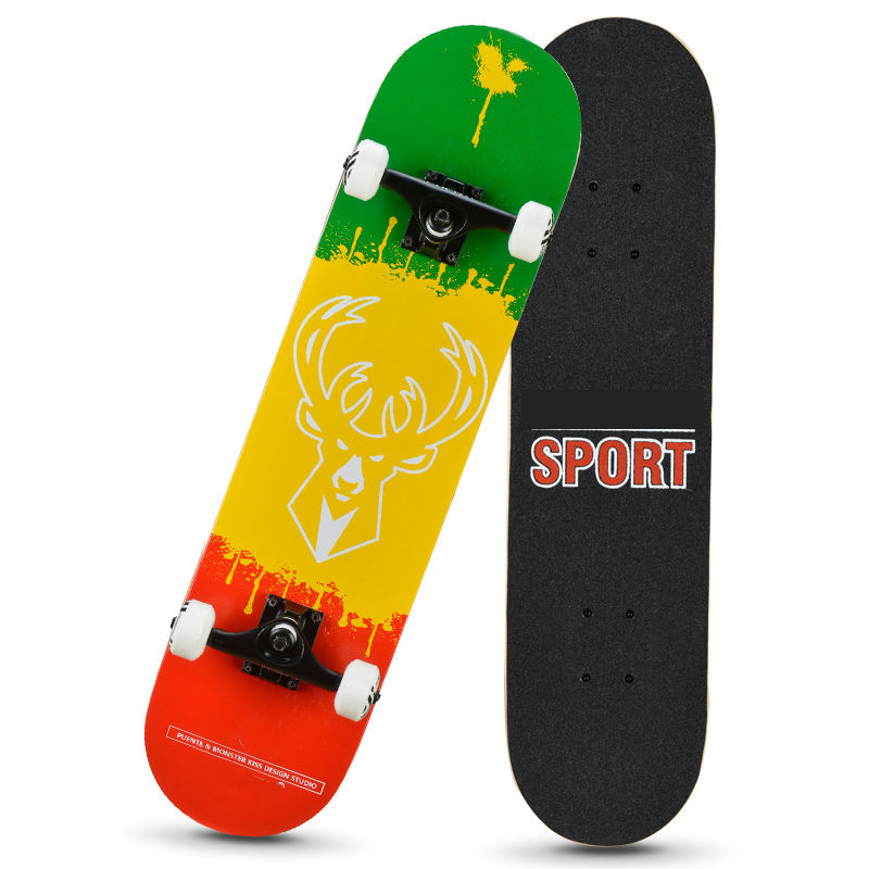 TheLowest Manufacturer Price Skateboard Long Board For Men Women And Kids Brush Street Luminous Roller Skating Drift Skate Board