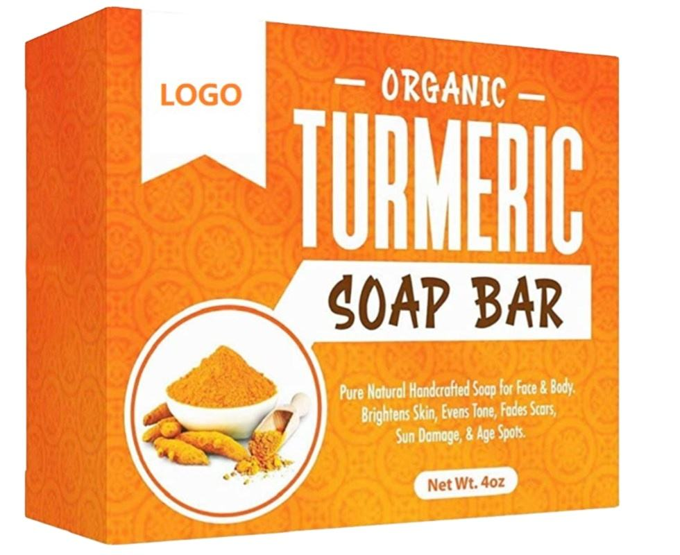Wholesale Natural Vegan & Organic herbal white tumeric bar soap for Face & Body care