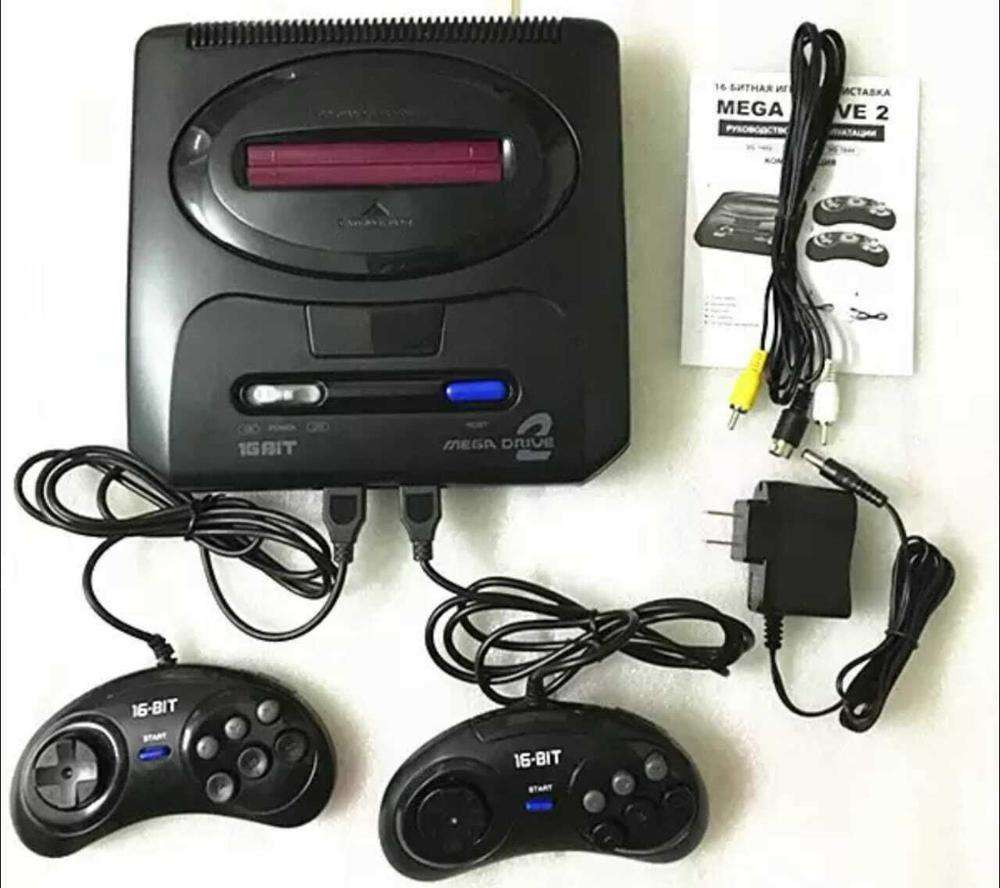 16 bit SEGA MD 2 Video Game Console US and Japan Mode Switch Handless Export Russia With 55 classic games