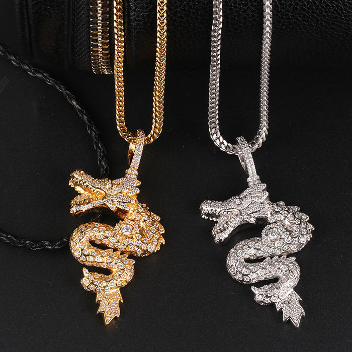Miss Jewelry Gold Plated Hiphop Raptors Cool Animal Dragon Pendant Jewelry
