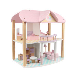 Best Sale Children Pretend Play Furniture Toy Wooden Doll House For Kids