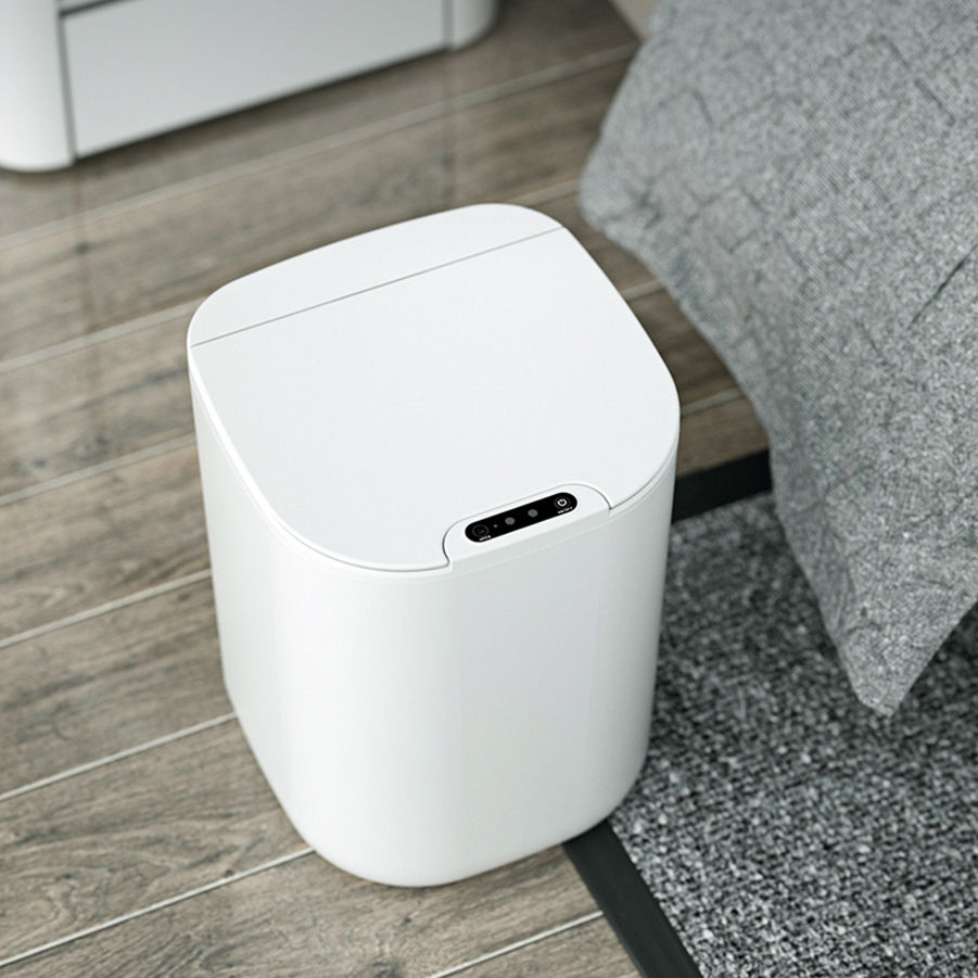 Intelligent Automatic Touch-Free Rectangular Rechargeable Dustbin Smart Waste Bins Trash Can