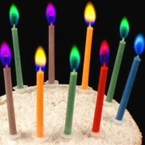Party Supplies Safe Color Flame Dessert Cake Decoration Colorful Multicolor Wedding Decorative Paraffin Price Birthday Candles
