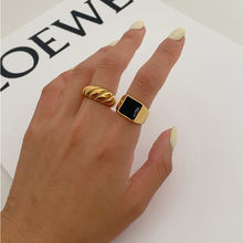 Gold Silver Color Twisted Croissants Rings Threads Geometric Rings for Women Minimalist Chunky Rings Vintage Jewelry