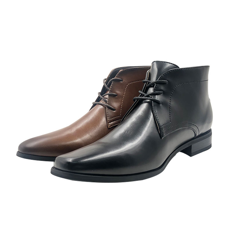 Wholesale Fashion Black and Brown Genuine Leather Chukka Ankle Mens Boots