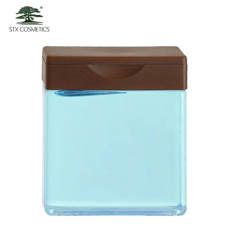 Hotel cosmetic bottle package 45ml small square shape plastic bottles for shampoo