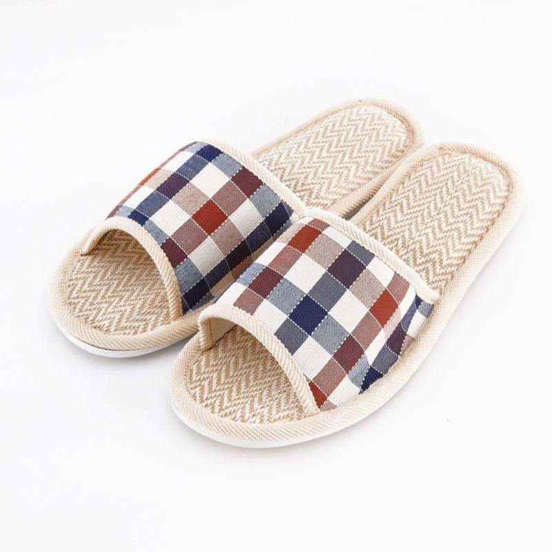 Summer explosions Fang Gezi linen slippers cotton home indoor non slip breathable sandals