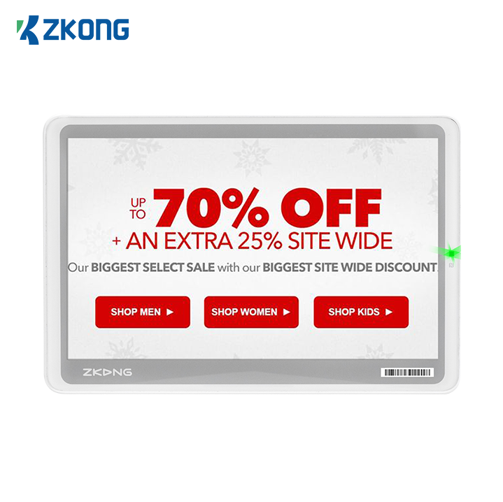 Zkong wireless BLE 5.0 epaper color and large epaper price display for supermarket