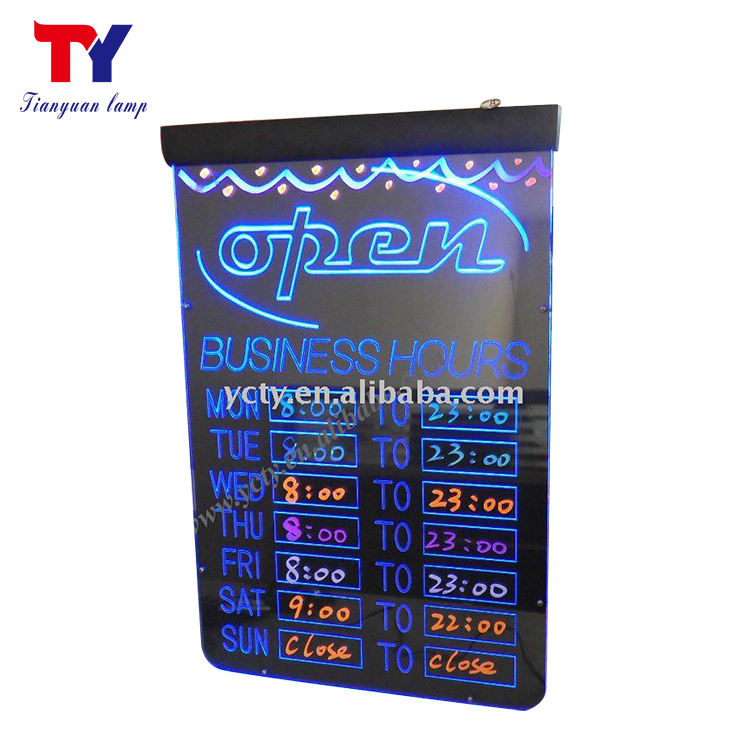 Glow magic attractive sign boards led writing board