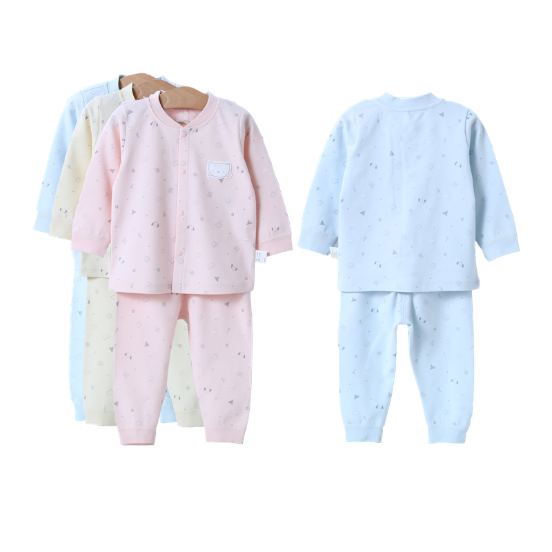 Clothes Newborn Clothing Stand Collar Long Sleeves Cotton Boys Girls Four Seasons Baby Clothing Sets