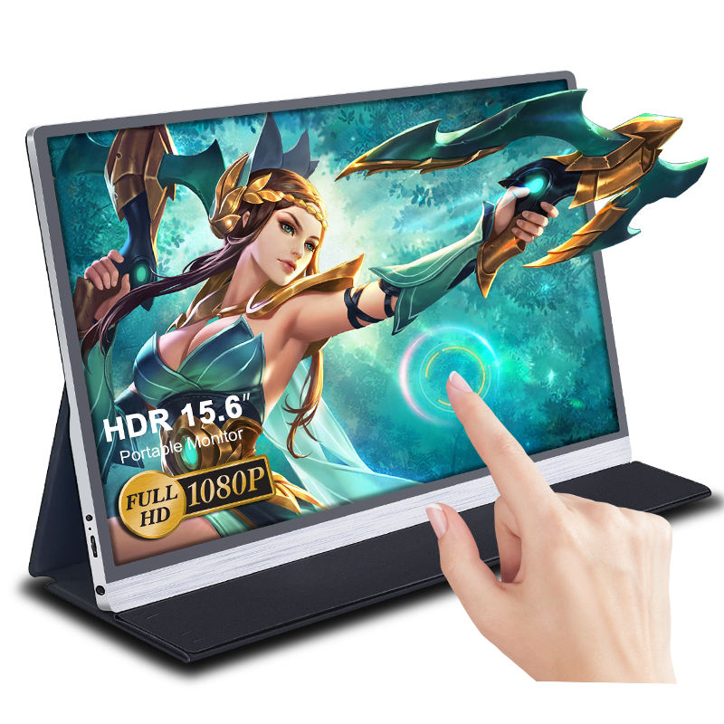 15.6 Inch Touchscreen FHD1920x1080p Draagbare Monitor Lcd Gaming Screen Voor Hdmi Voor Telefoon Laptop Pc Raspberry Pi Xbox PS4 Xiaomi