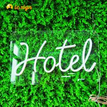 Small High Brightness Flash Open Flex LED Acrylic Backing Neon Sign for hotel and shop