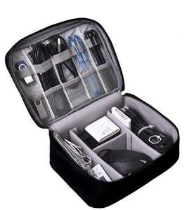 Double Layers Travel Electronics Accessories Oxford Digital Phone Storage Bags Cable wires storage organizer