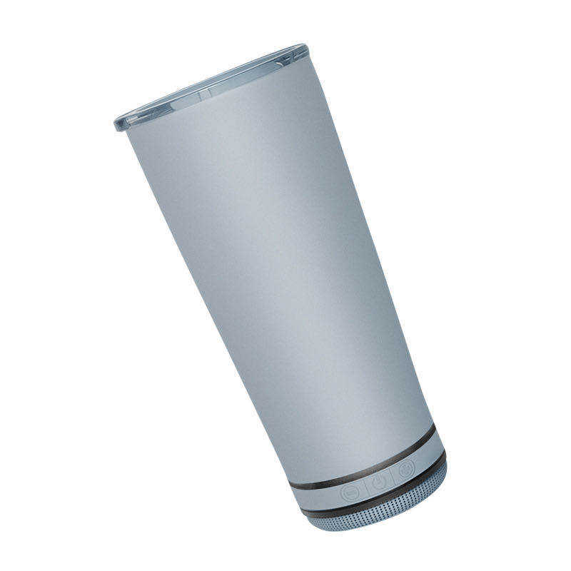 New design safe food grade material Grey water cup detachable portable Wireless BT speaker with Build in Battery
