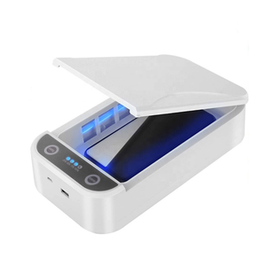 UV Sterilizer wireless charger Box Ultraviolet Light Voice Broadcast Led Lamp Portable Cleaner Mobile Phone sanitizer
