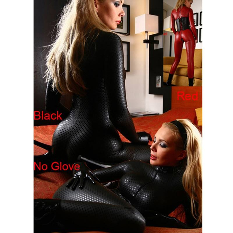Wholesale ladies pvc leather snakeskin long sleeves bodysuit jumpsuit dancing clothing