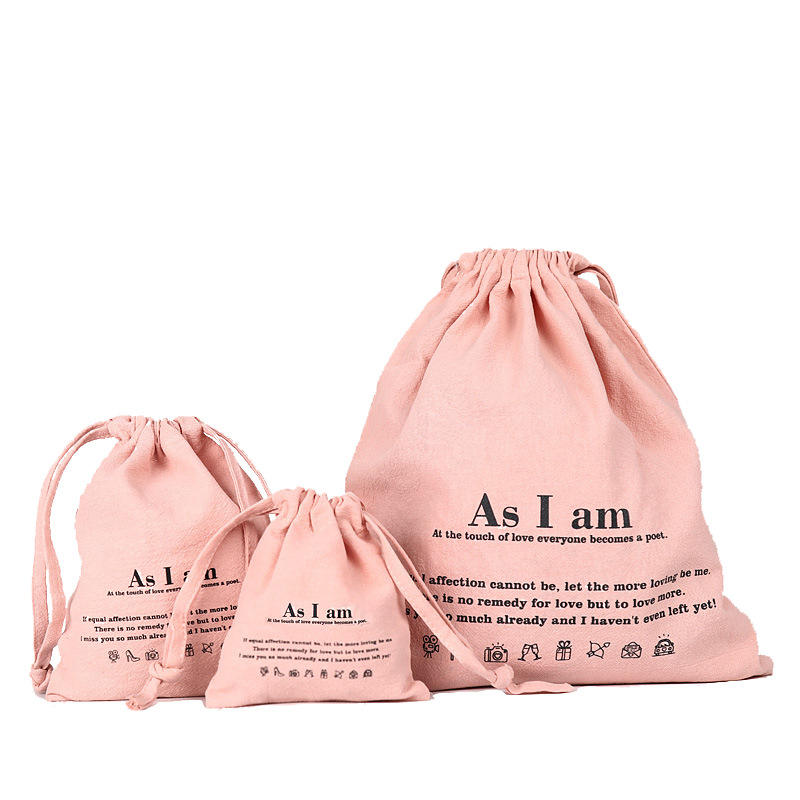 Customised soft washing durable organic cotton tote draw string shoe bag small foldable canvas cloth drawstring bag with logo