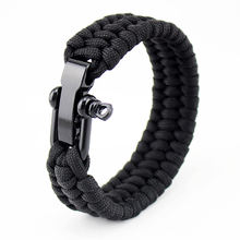 Adjustable Adventure Outdoor Activities Camping Hiking Stainless Steel Custom Survival Paracord Bracelet
