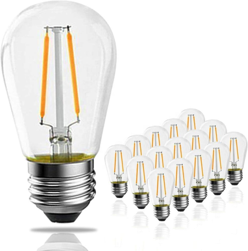 Decorative S14 Dimmable LED Filament Lighting Bulbs 1W 2W Lamp Manufacturer Cheap Prices Wholesale From China E26 Home Lamps