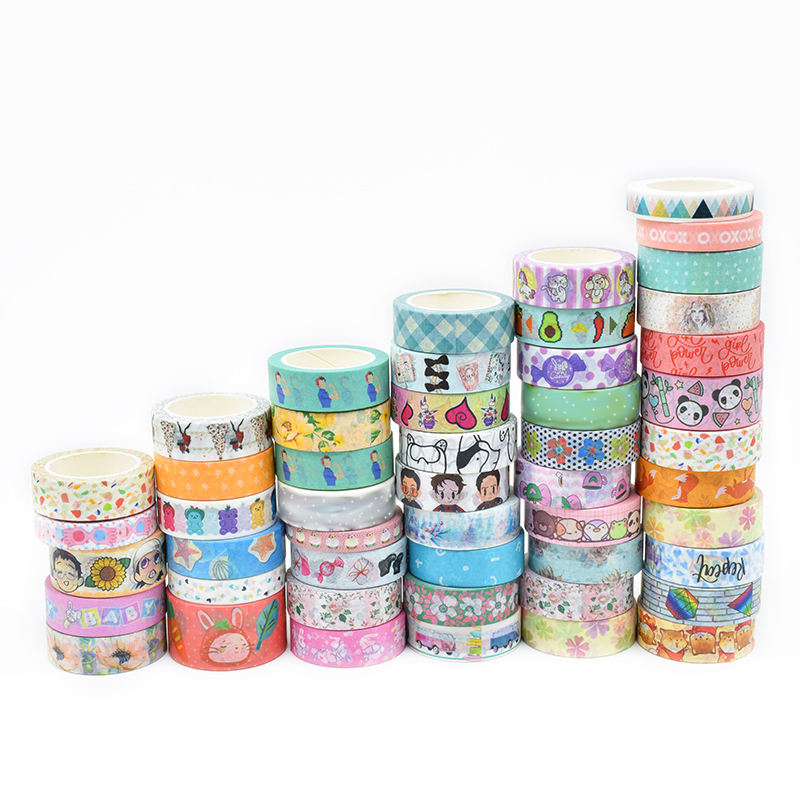 2019 Latest Wholesale Cheap Custom Japanese Adhesive Washi Tape Wedding Decoration Stationery