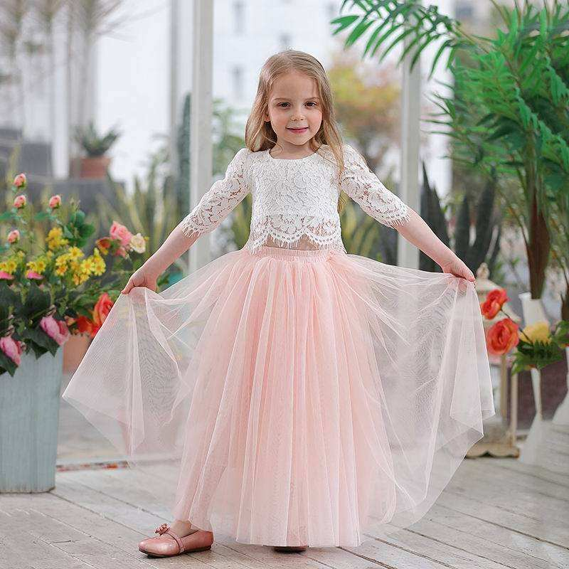2018 High Quality Medium Length Cotton Children's Party Girl Dress,Party Dress For Child