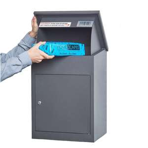 Wall Mounted Smart metal Parcel Drop Box Galvanized sheet apartment mailbox