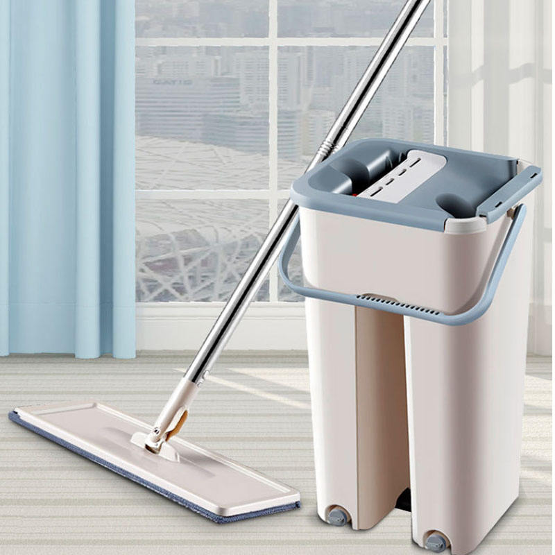 Magic Mop Free Hand Washing Flat Mop Ultrafine Fiber Cleaning Cloth Home Kitchen Wooden Floor Mop Cleaner Household