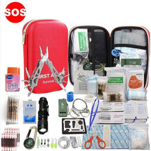 Outdoor Supplies Military Emergency First Aid Survival Kit, Multifunctional Camping Equipment Survival First Aid Kit