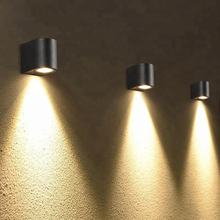 Gray outdoor IP65 waterproof led wall lamp high lumen aluminum cheap decorative vintage wall lamp for garden