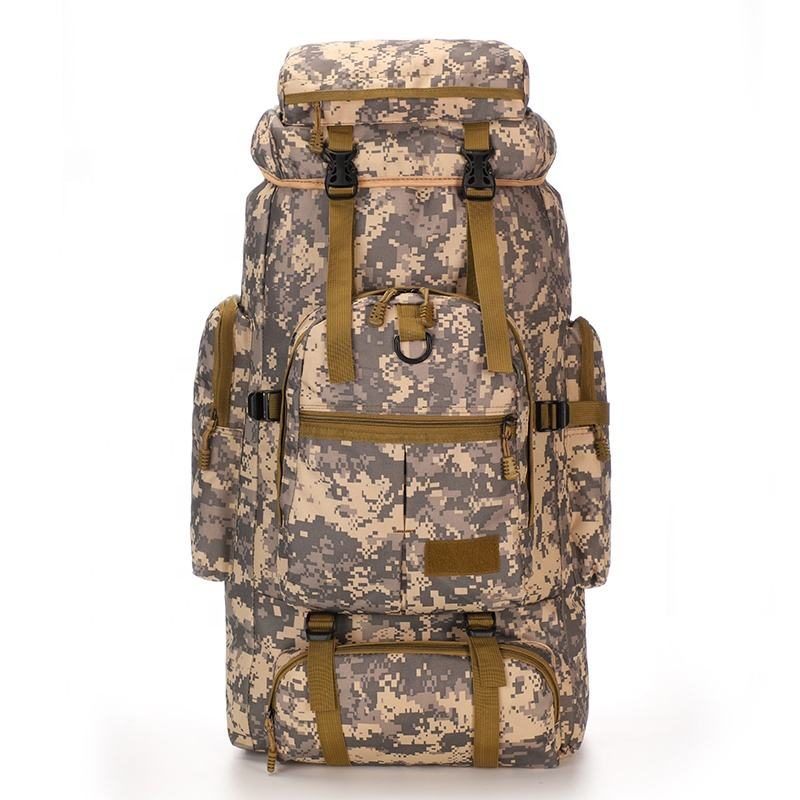 75L Large capacity camouflage military outdoor camping bags waterproof hiking backpack