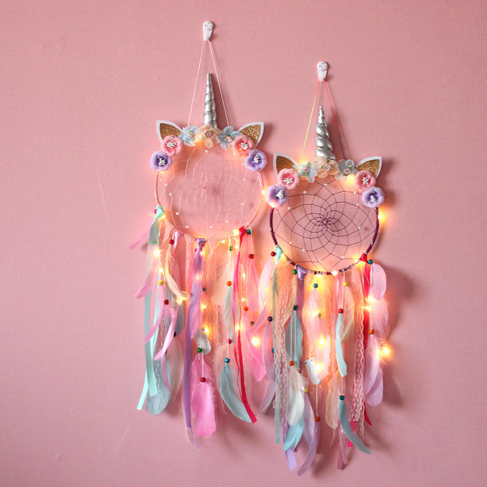Unicorn Accessories Handmade Hanging Girl's Room Decoration Lovely Horn Dream Catcher
