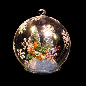 Decorative chinese art craft with light decorative glass ball