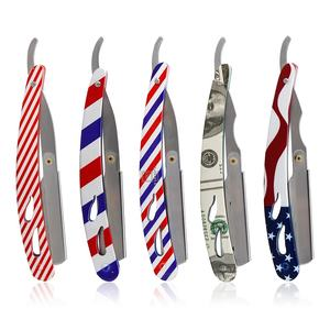 New Arrival Stainless Steel Straight Razors Single Beard Cutting Folding Knife Shaving Razor Mens Caring Barber Razor