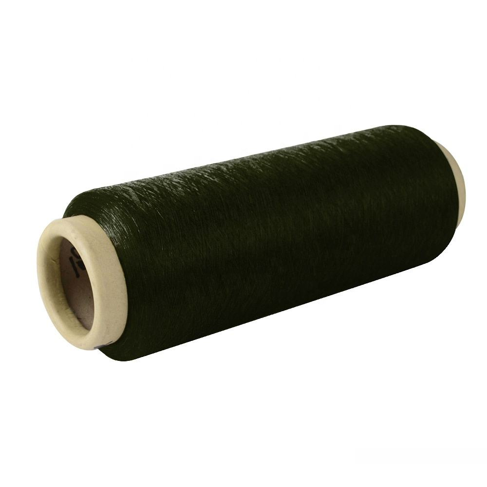 High quality eco-friendly recycle spun 200d soft polyester multicolor yarn