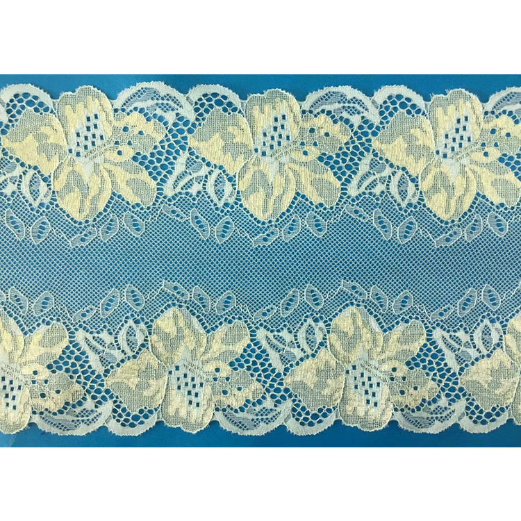 18cm wide Brilliant wholesale price bridal lace trim sewing on lingerie border
